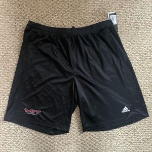 NWT MIT Football adidas clima tech shorts 2XL